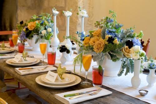 bridal brunch bright and shiny wedding reception